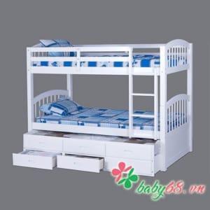 Giường ba tầng Bella BB179 màu trắng