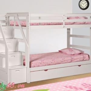 Giường ba tầng Bella BB165 màu trắng