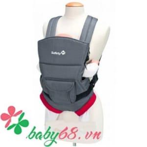Địu em bé Youmi màu xám đỏ Safety 2689
