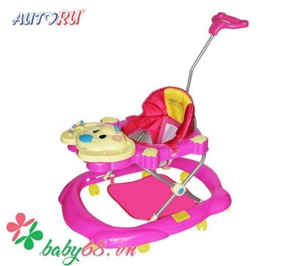 Xe tập đi có nhạc cho bé Autoru - AUBW02 màu hồng