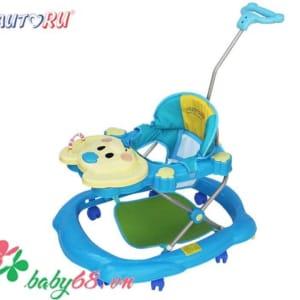Xe tập đi có nhạc cho bé Autoru - AUBW02 màu xanh