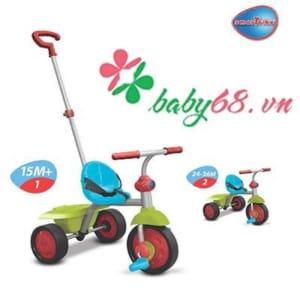 Xe ba bánh Fun 2 in 1 màu xanh lá Smart-Trike