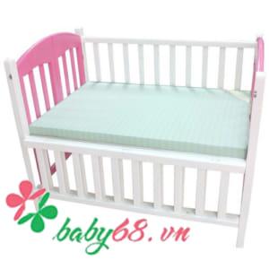 Giường cũi đa năng XĐ hồng trắng (80x120)