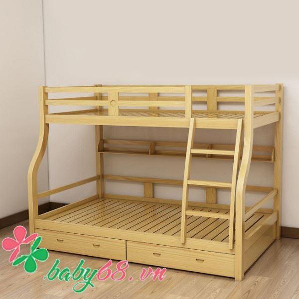 Giường tầng gỗ GTG02