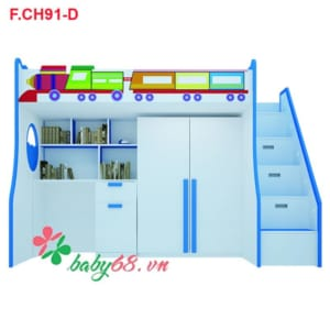 Giường tầng tàu hỏa 3 trong 1 F.CH 91-D