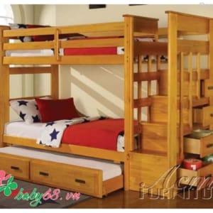 Giường ba tầng Acme BB 010 màu tự nhiên