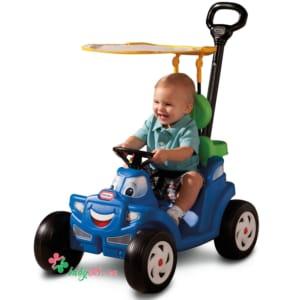 Xe ô tô chòi chân có cần đẩy và mái che Little Tikes LT-622069MP