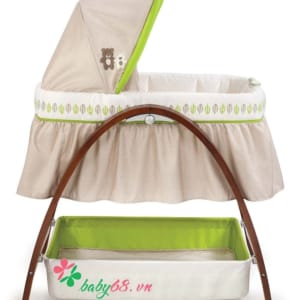 Nôi rung Summer SM26070 | Bentwood Bassinet With Monitor Baby