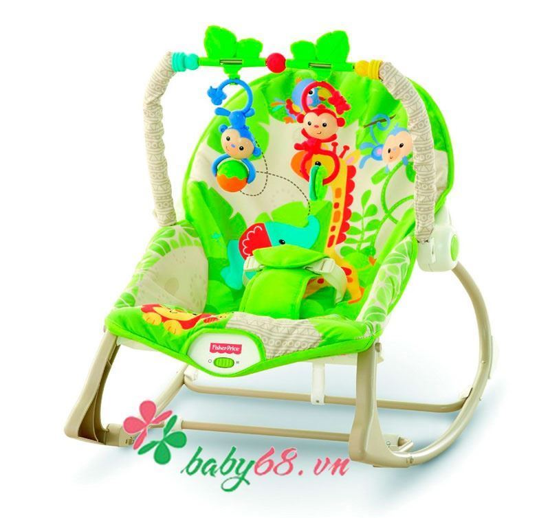 Ghế rung Fisher-Price BJL39 Rainforest Friends Infant-to-Toddler Rocker