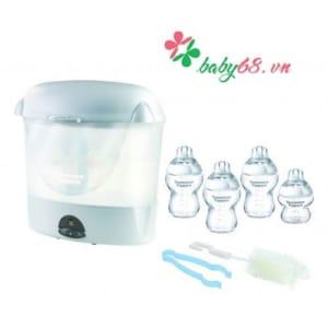 Bộ tiệt trùng bình sữa 3 bình 260ml, 1 bình 150ml, cọ rửa và kẹp gắp tommee tippee - 431205/38