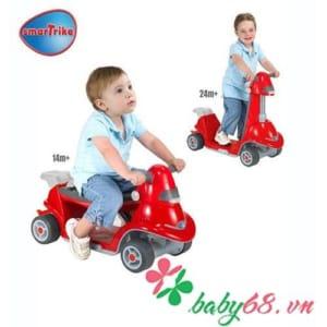Xe chòi chân thông minh AIO Smart-Trike màu đỏ