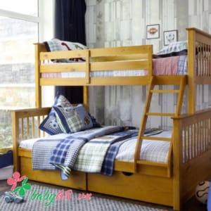 Giường tầng 1m4 Bella BB228 màu vàng có hộc kéo