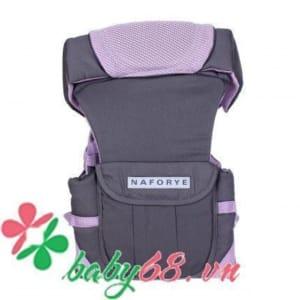 Địu Hug Helper - N99497 Xám-hồng