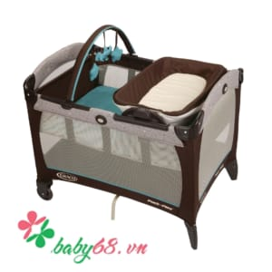 Giường cũi Graco PNP Reversible Napper & Changer Soho Square 1812041