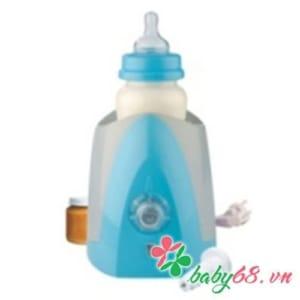 Máy hâm nóng bình sữa dùng tại nhà/trên ô tô 230/240V 12V màu xanh nhạt