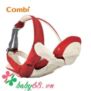 Địu Combi 4 cách Premium breezing màu đỏ