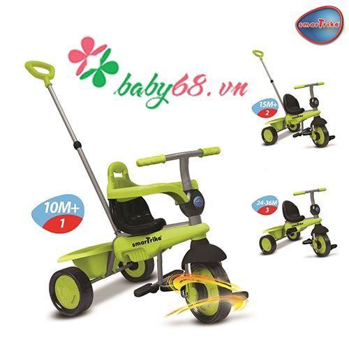 Xe cảm ứng Breeze 3 in 1 màu xanh lá Smart-Trike