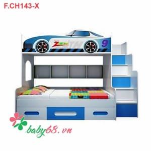 Giường tầng trẻ em hình xe ô tô F.CH 143-X