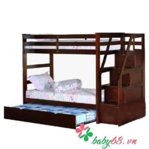 Giường ba tầng Bella BB165 màu nâu