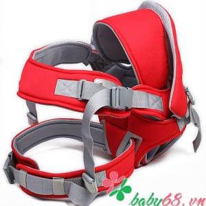Địu em bé 6 tư thế Baby Carrier CA5001 màu đỏ