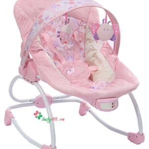 Ghế rung Mastela 6905 có nhạc màu hồng