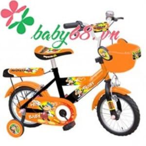 Xe đạp 16 inch bánh căm 2 màu (cam   đen) con chuột M1018-X2B