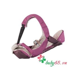 Địu Combi Signature 4 cách màu kaki màu hồng