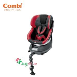 Ghế ô tô Combi Neroom Iso fix xoay 360 EG màu đỏ