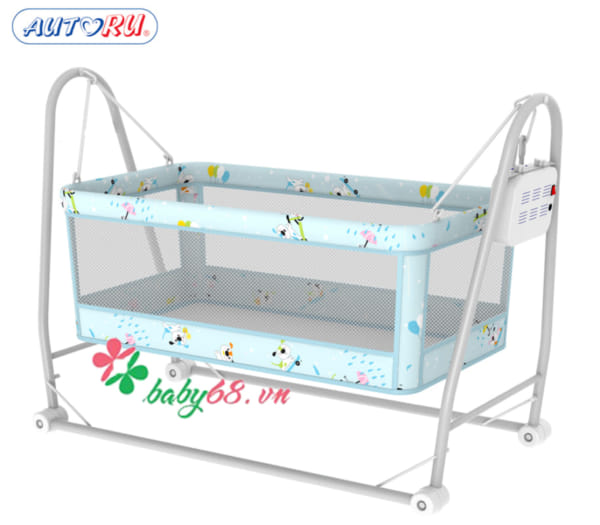 Nôi trẻ em mềm một tầng Autoru 2 sao AUAC2S