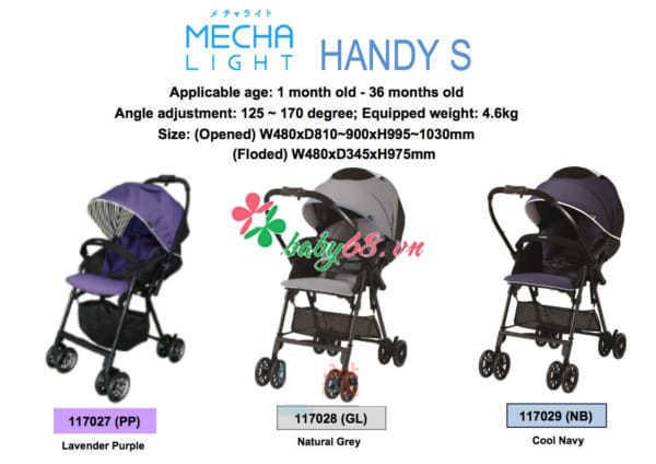 Xe đẩy Combi Mechacal Handy S
