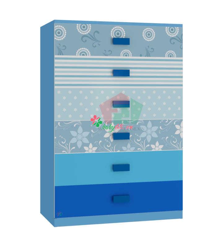 Cabinet hoa văn xanh dương