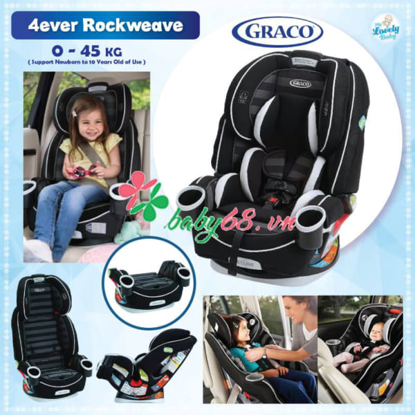 Ghế ngồi ô tô cho trẻ sơ sinh Graco 4Ever Rockweave