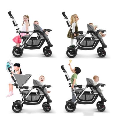 xe đẩy đôi em bé