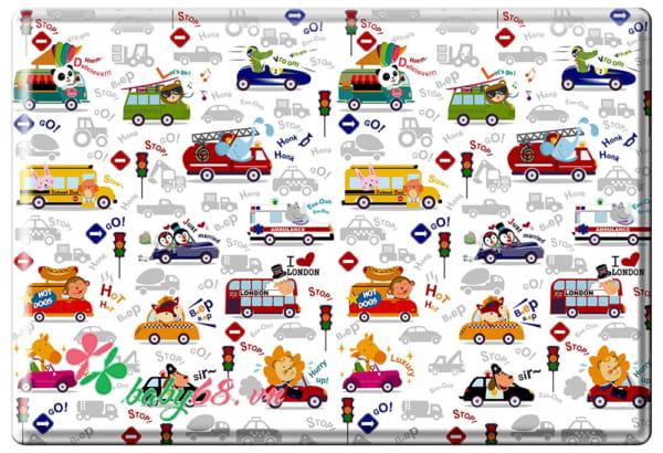 Thảm chơi Pamama 1 mặt – Phương tiện giao thông P0203