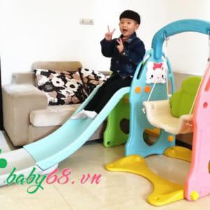 Cầu trượt trẻ em có xích đu Hàn Quốc K20