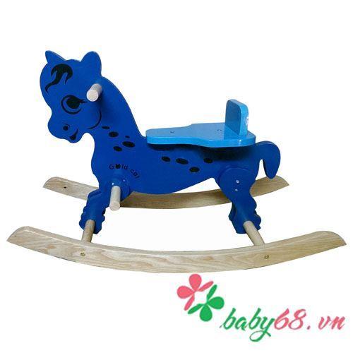 Ngựa gỗ bập bênh cho bé Goldcat