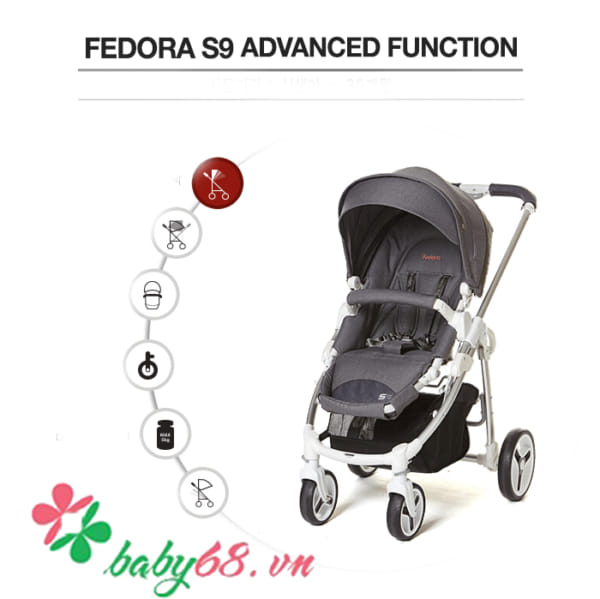 Xe đẩy 2 chiều Fedora S9 NEW
