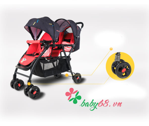 Xe đẩy đôi Baobaohao 705