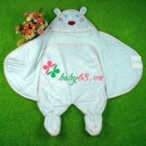 Túi ngủ có chân cho bé hình con gấu
