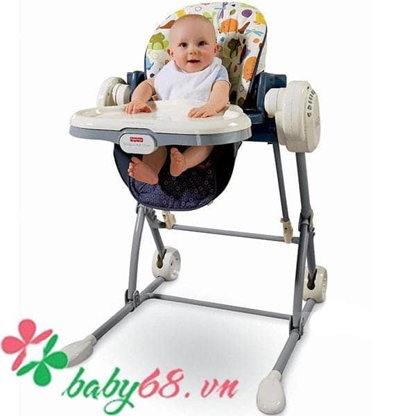 0003699 Ghe An Fisher Price Cho Be Ket Hop Xich Du
