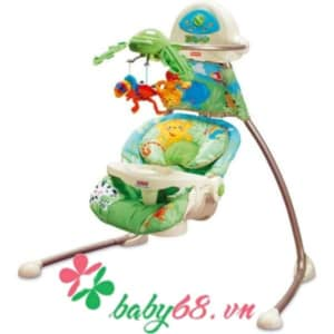 0003724 Xich Du Fisher Price Rainforest Open Top Cradle Swing